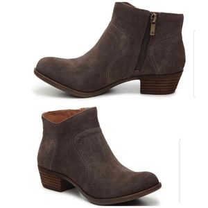 LUCKY BRAND Brolley suede booties, 8
